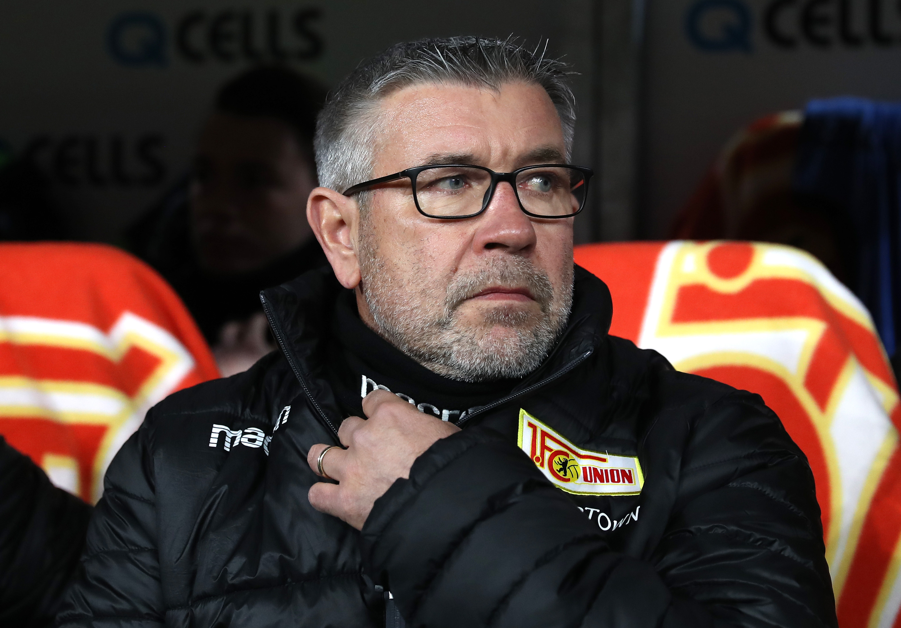Union Berlin boss Urs Fisher will not be present on the sidelines (Photo by Maja Hitij/Bongarts/Getty Images)
