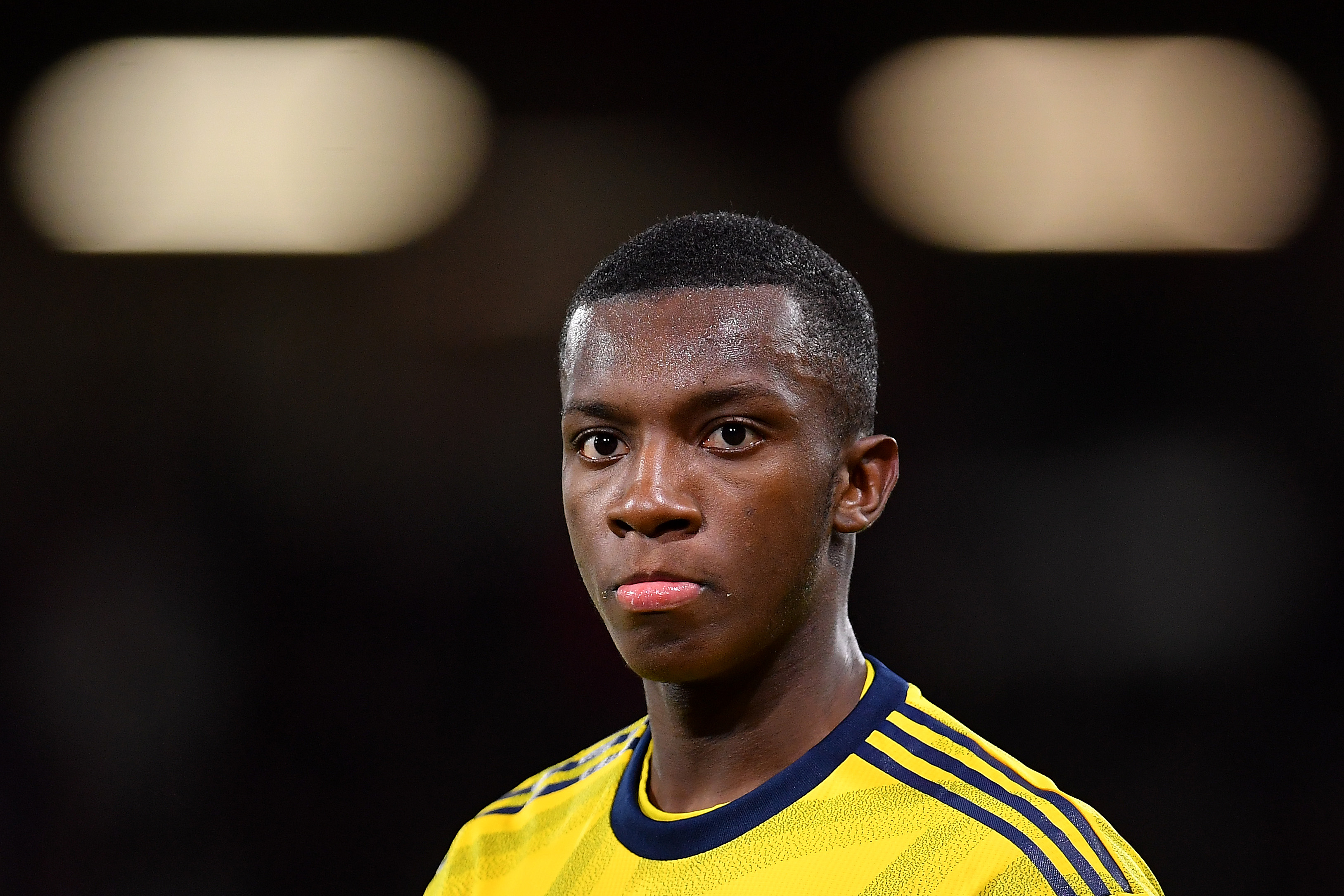Nketiah off the mark for Arsenal this season (Photo by Justin Setterfield/Getty Images)