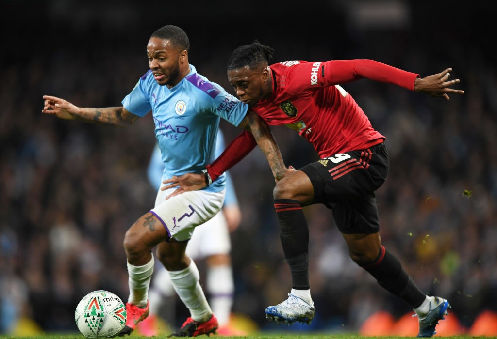 Wan-Bissaka coped fairly well with the threat of Sterling (Photo by Shaun Botterill/Getty Images)