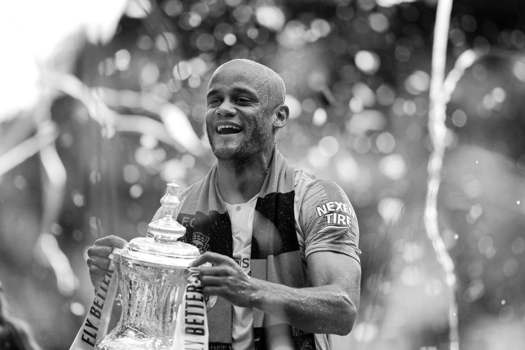 The end of the road for Vincent Kompany in Sky Blue. (Photo by Richard Heathcote/Getty Images)