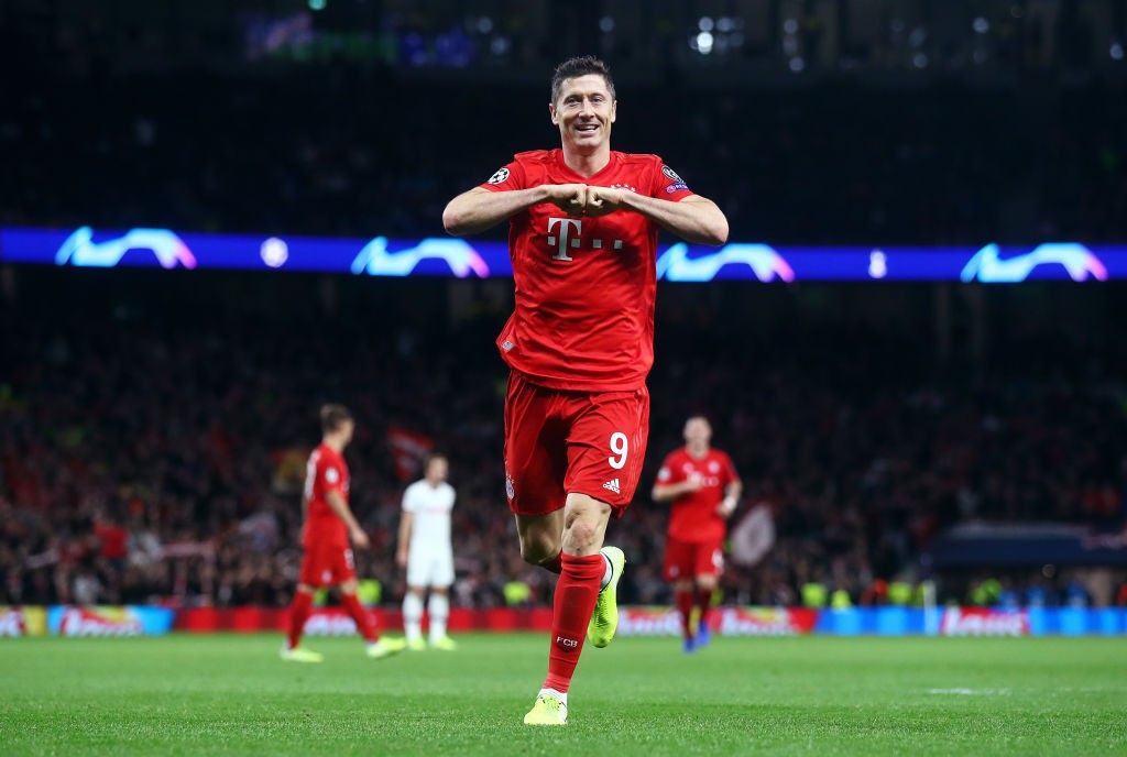 Robert Lewandowski: Goals galore from the top scorer of 2019 in world football. (Photo by Julian Finney/Getty Images)