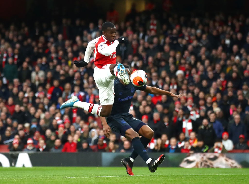 Nketiah off the mark in the Premier League (Photo by Julian Finney/Getty Images)