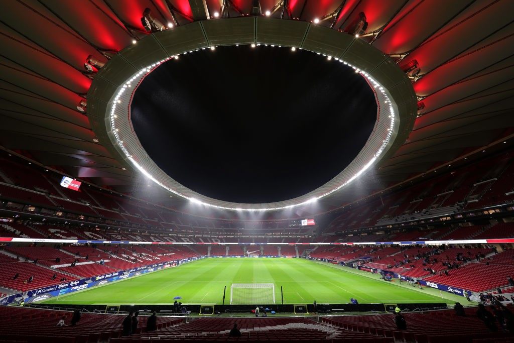 MADRID, SPAIN - DECEMBER 01: General view inside the stadium prior to the Liga match between Club Atletico de Madrid and FC Barcelona at Wanda Metropolitano on December 01, 2019 in Madrid, Spain. (Photo by Gonzalo Arroyo Moreno/Getty Images)