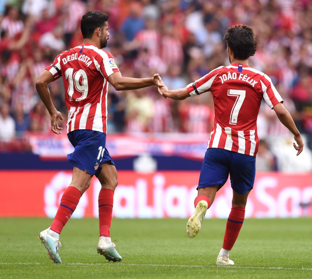 Diego Costa and Joao Felix are both doubts for Atletico (Photo by Denis Doyle/Getty Images)