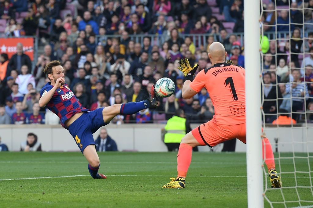 Rakitic got an assist on the day (Photo by JOSEP LAGO/AFP via Getty Images)