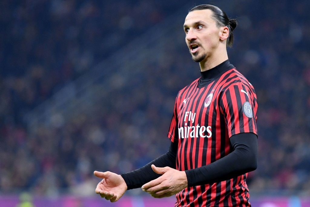 Zlatan Ibrahimovic misses out for AC Milan due to suspension. (Photo by Alberto Pizzoli/AFP via Getty Images)
