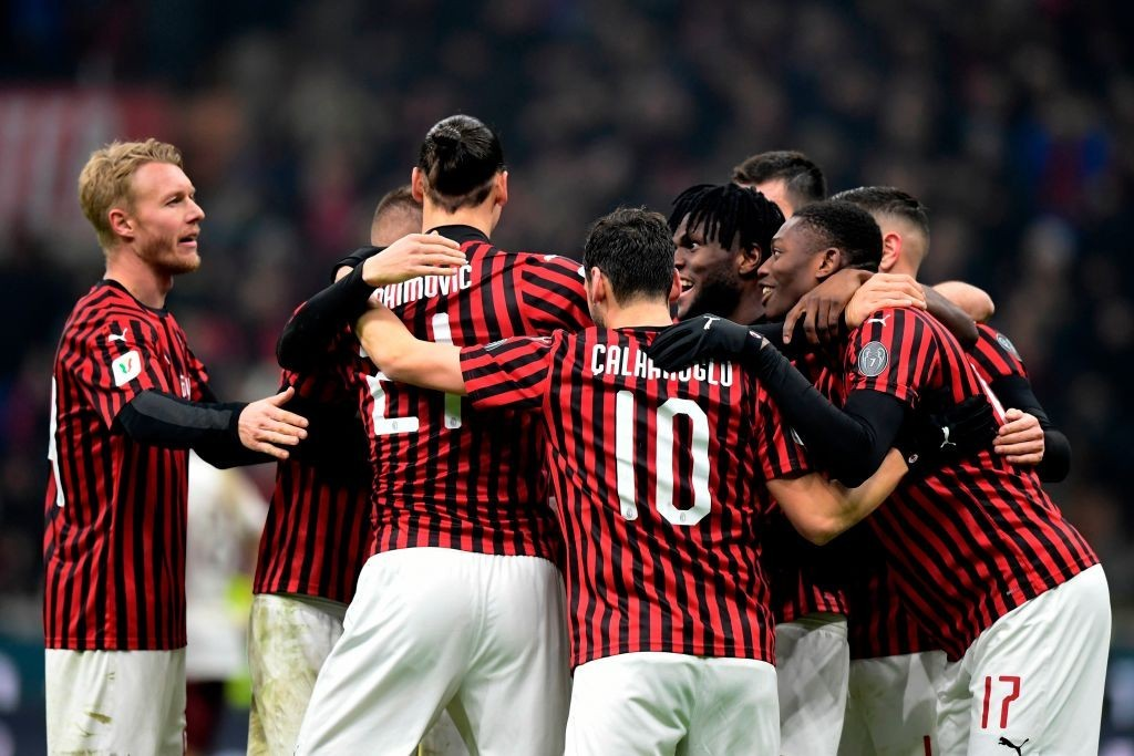 A Zlatan Ibrahimovic-led AC Milan ended 2019/20 on a high. (Photo by Miguel Medina/AFP via Getty Images)