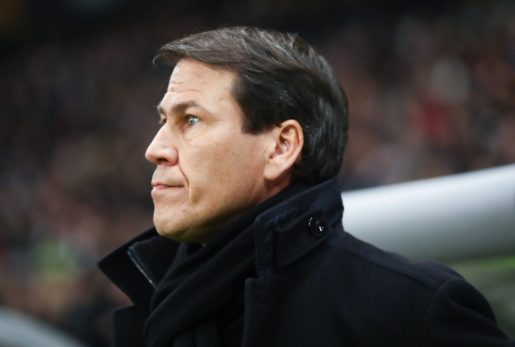 FRANKFURT AM MAIN, GERMANY - NOVEMBER 29: Head coach Rudi Garcia of Marseille looks on prior to the UEFA Europa League Group H match between Eintracht Frankfurt and Olympique de Marseille at Commerzbank-Arena on November 29, 2018 in Frankfurt am Main, Germany. (Photo by Alex Grimm/Getty Images)