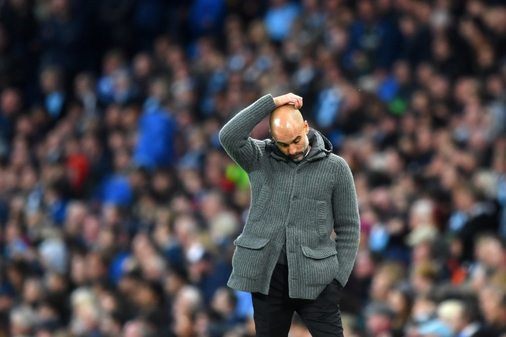 Guardiola was left scratching his head after being blown away by Liverpool last season (Photo by Michael Regan/Getty Images)