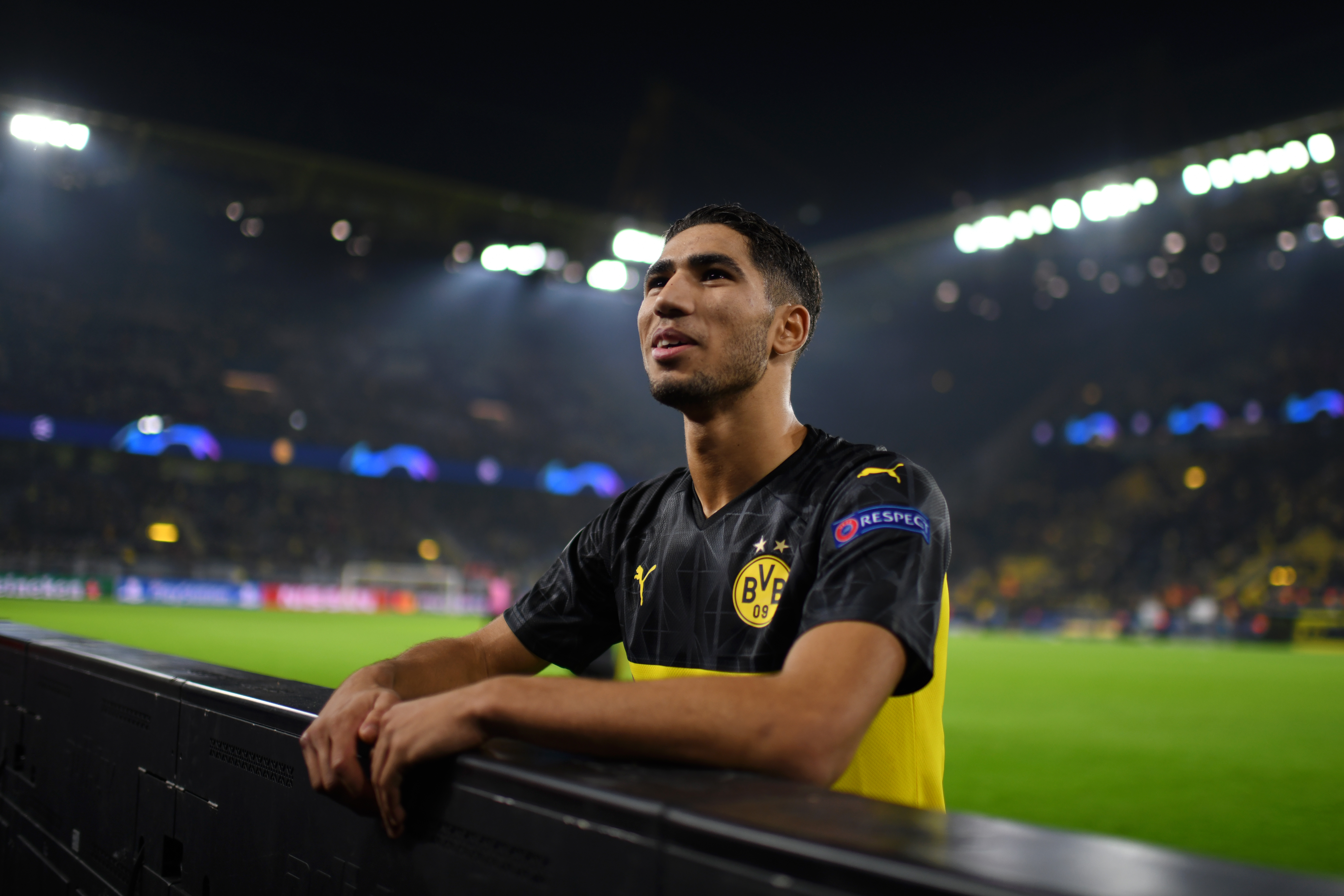 Hakimi will be playing his last game for Dortmund (Photo by Jörg Schüler/Getty Images)