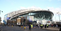 LONDON, ENGLAND - NOVEMBER 30:  A general view outside the stadium prior to the Premier League match between Tottenham Hotspur and AFC Bournemouth  at Tottenham Hotspur Stadium on November 30, 2019 in London, United Kingdom. (Photo by Julian Finney/Getty Images)