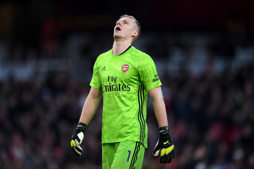 A rare Leno error eventually proved to be costly for Arsenal. (Photo by Shaun Botterill/Getty Images)