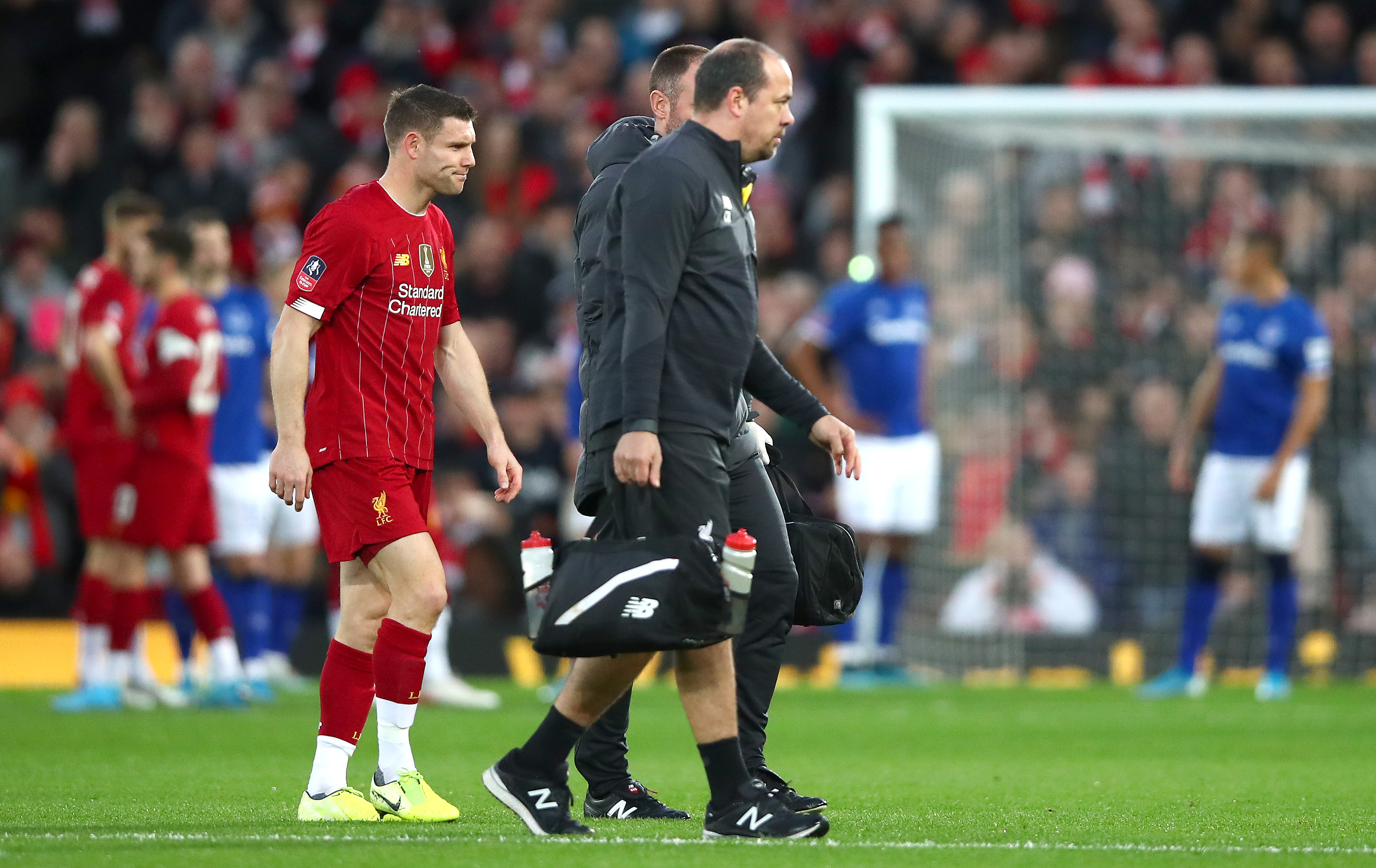 James Milner is the latest Liverpool player to pick up an injury (Photo by Clive Brunskill/Getty Images)