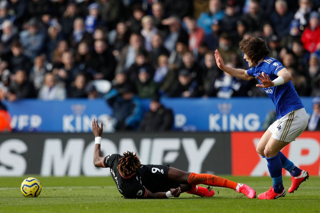 A frustrating day for Tammy Abraham. (Photo by Adrian Dennis/AFP via Getty Images)