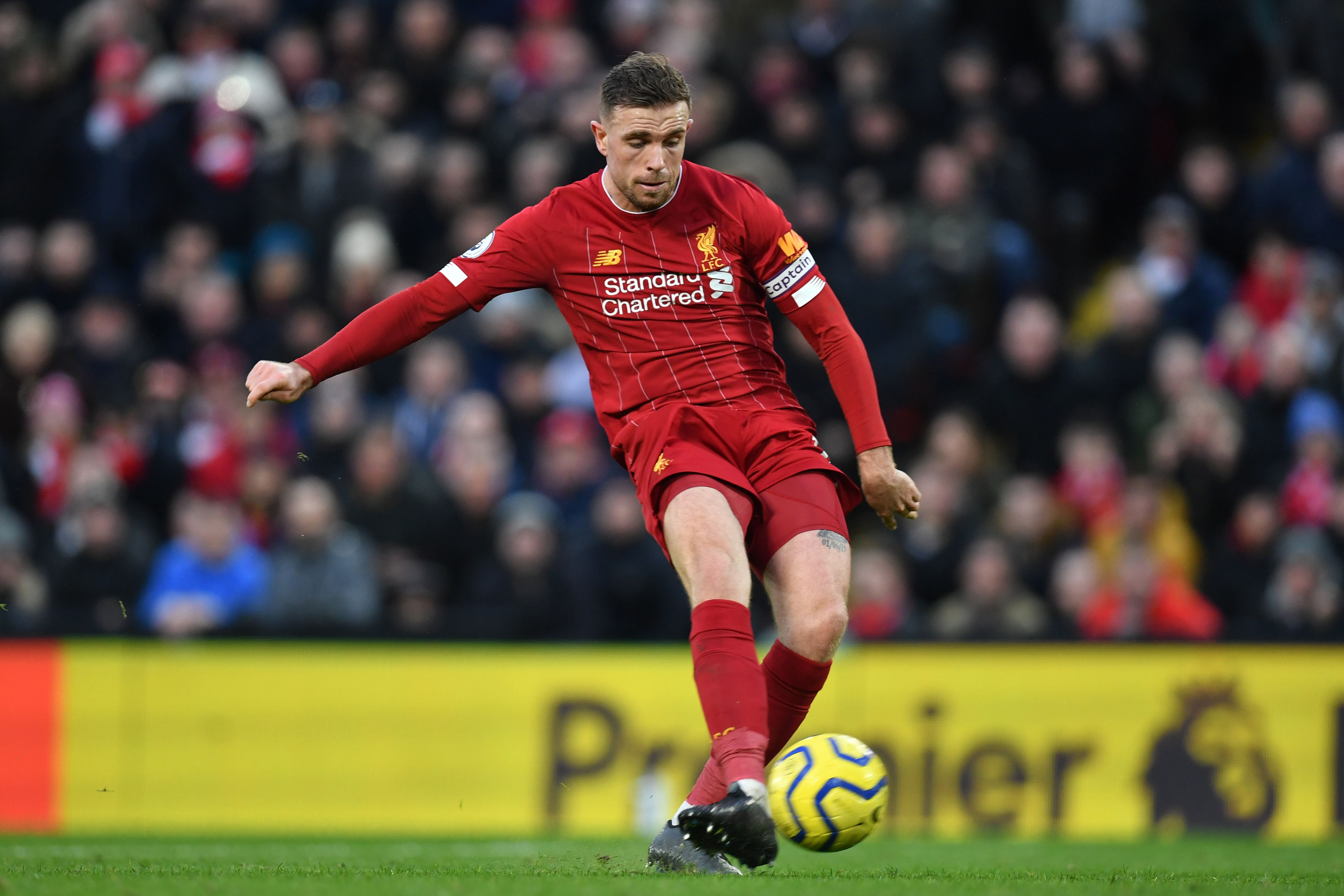 Henderson's return to training is a boost for Liverpool (Photo by PAUL ELLIS/AFP via Getty Images)
