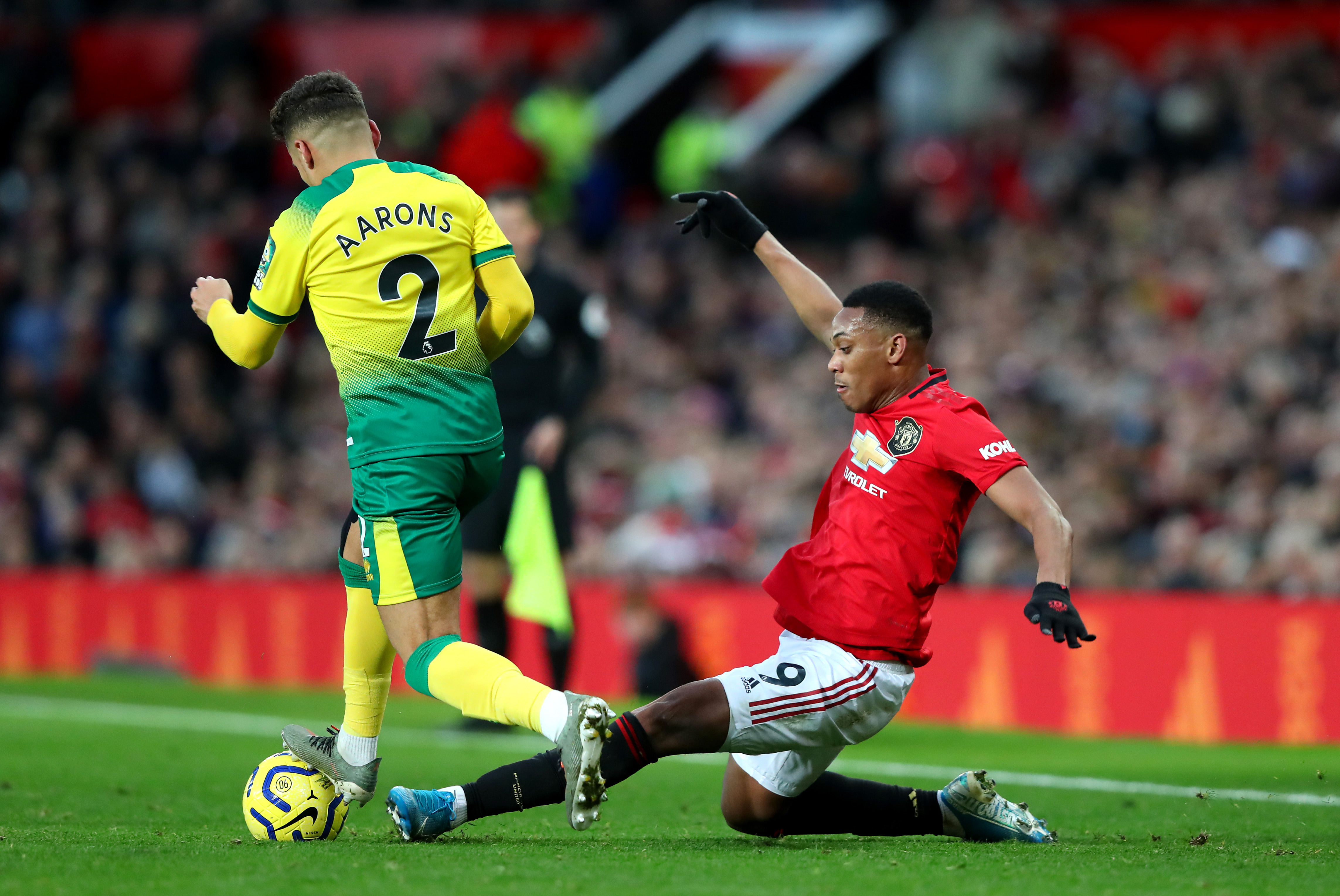 Could Aarons be lining up alongside Anthony Martial next season? (Photo by Alex Livesey/Getty Images)