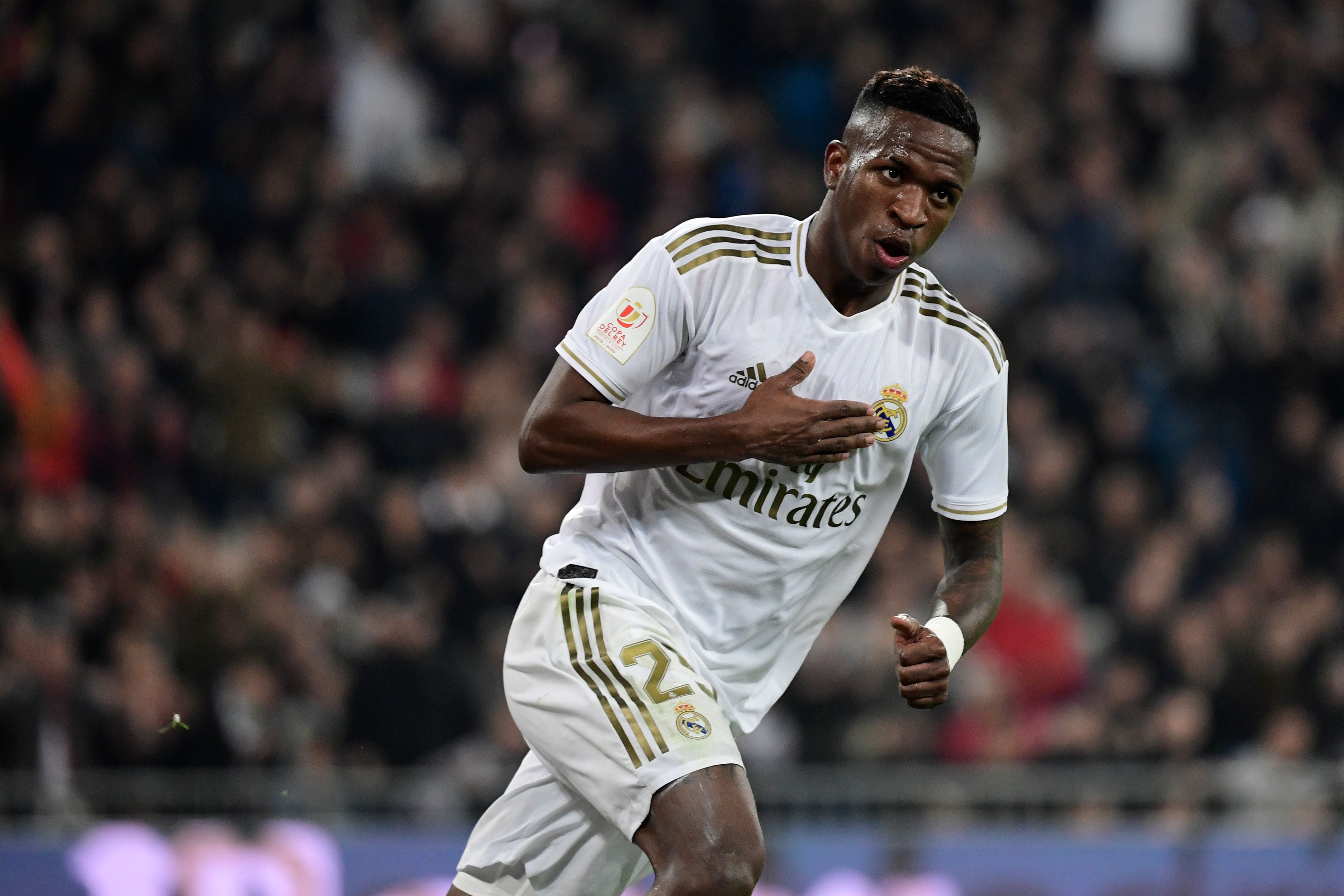 Vinicius Junior on Manchester United's radar (Photo by Javier Soriano/AFP via Getty Images)