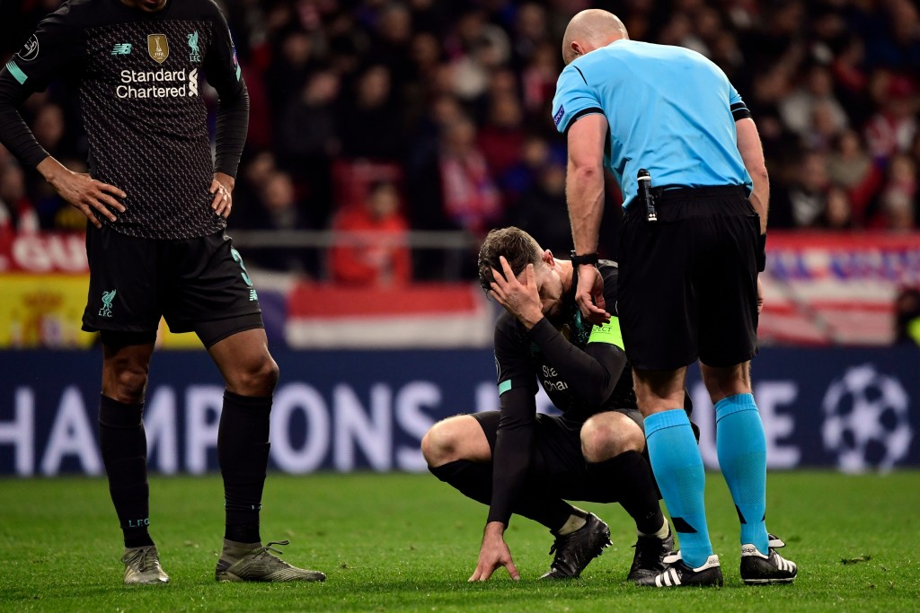 Liverpool captain Jordan Henderson is out with a hamstring injury. (Photo by Javier Soriano/AFP via Getty Images)