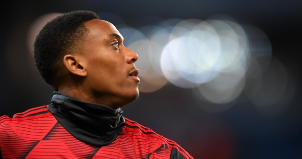 Anthony Martial is one of two Manchester United players unavailable. (Photo by Laurence Griffiths/Getty Images)