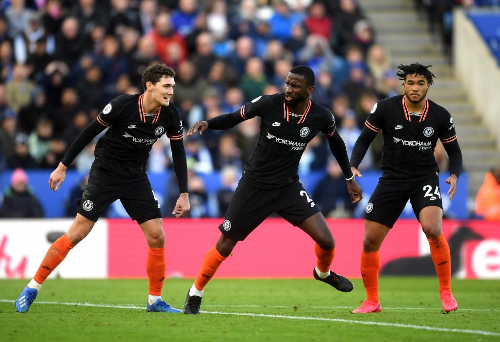 Antonio Rudiger could partner Andreas Christensen at the heart of the Chelsea defence against Crystal Palace. (Photo by Michael Regan/Getty Images)