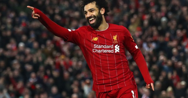 Will Salah celebrate another home game with a goal... or two? (Photo by Julian Finney/Getty Images)
