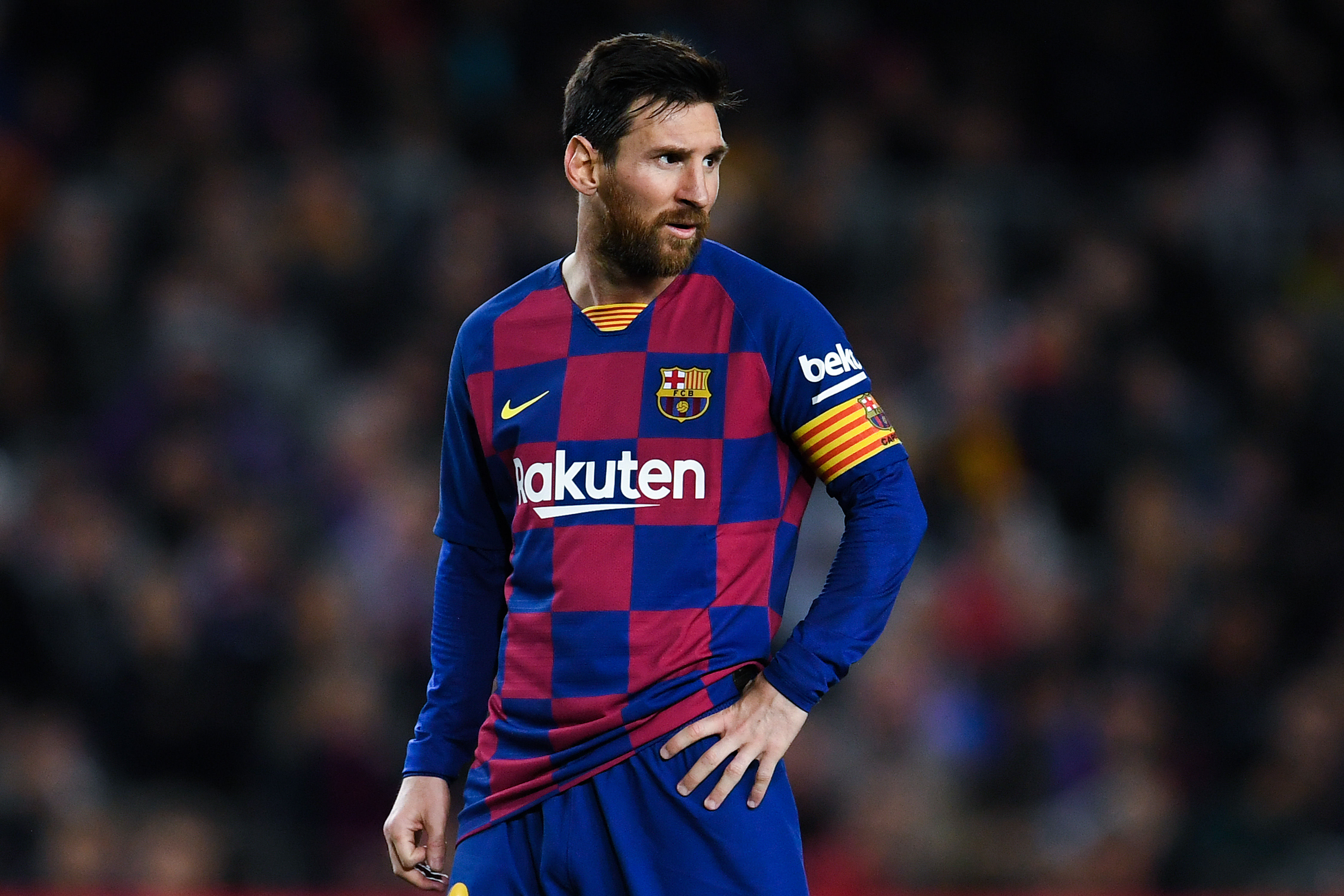 Will Messi stay at Barcelona beyond the current season? (Photo by David Ramos/Getty Images)