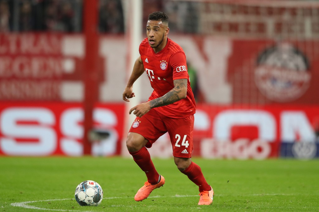 MUNICH, GERMANY - FEBRUARY 05: Corentin Tolisso of FC Bayern Muenchen runs with the ball during the DFB Cup round of sixteen match between FC Bayern Muenchen and TSG 1899 Hoffenheim at Allianz Arena on February 05, 2020 in Munich, Germany. (Photo by Alexander Hassenstein/Bongarts/Getty Images)