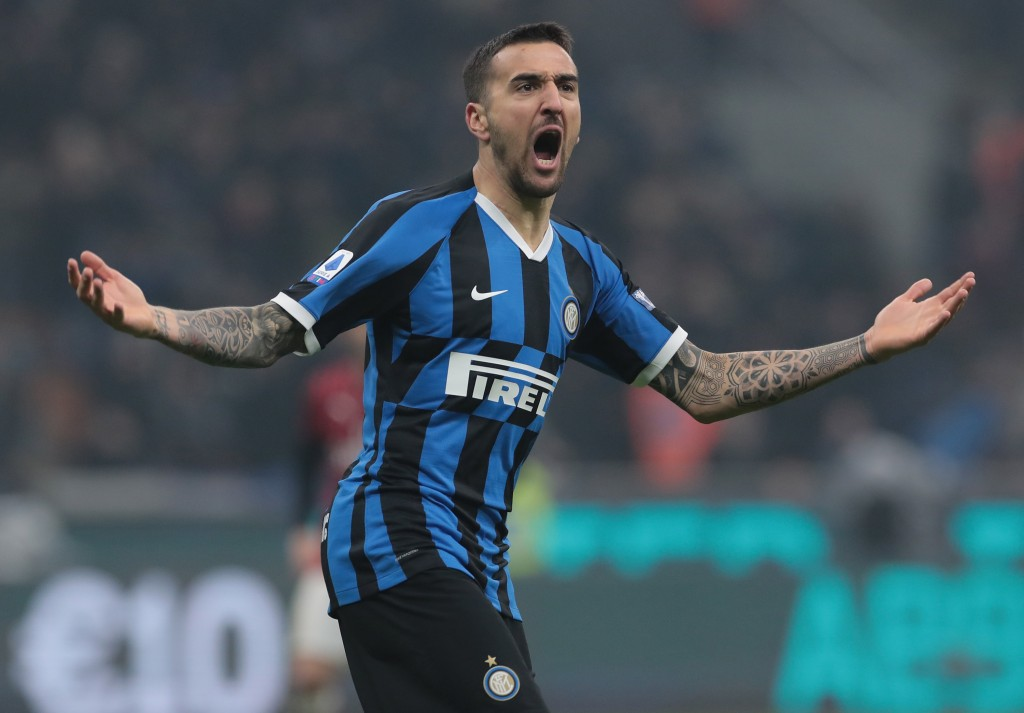 Set to celebrate a move to Chelsea? (Photo by Emilio Andreoli/Getty Images)