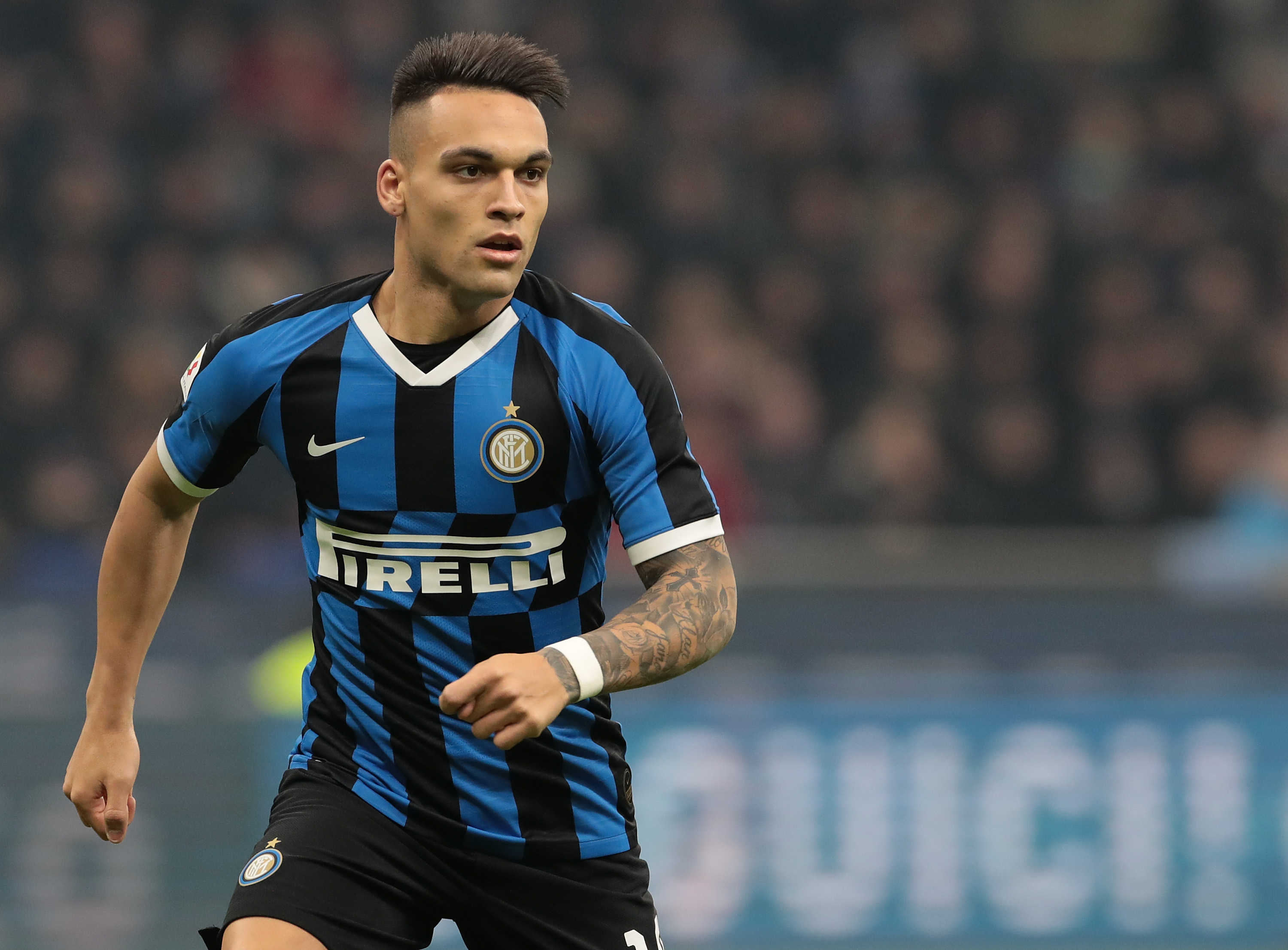 Lautaro Martinez is attracting both North London clubs. (Photo by Emilio Andreoli/Getty Images)