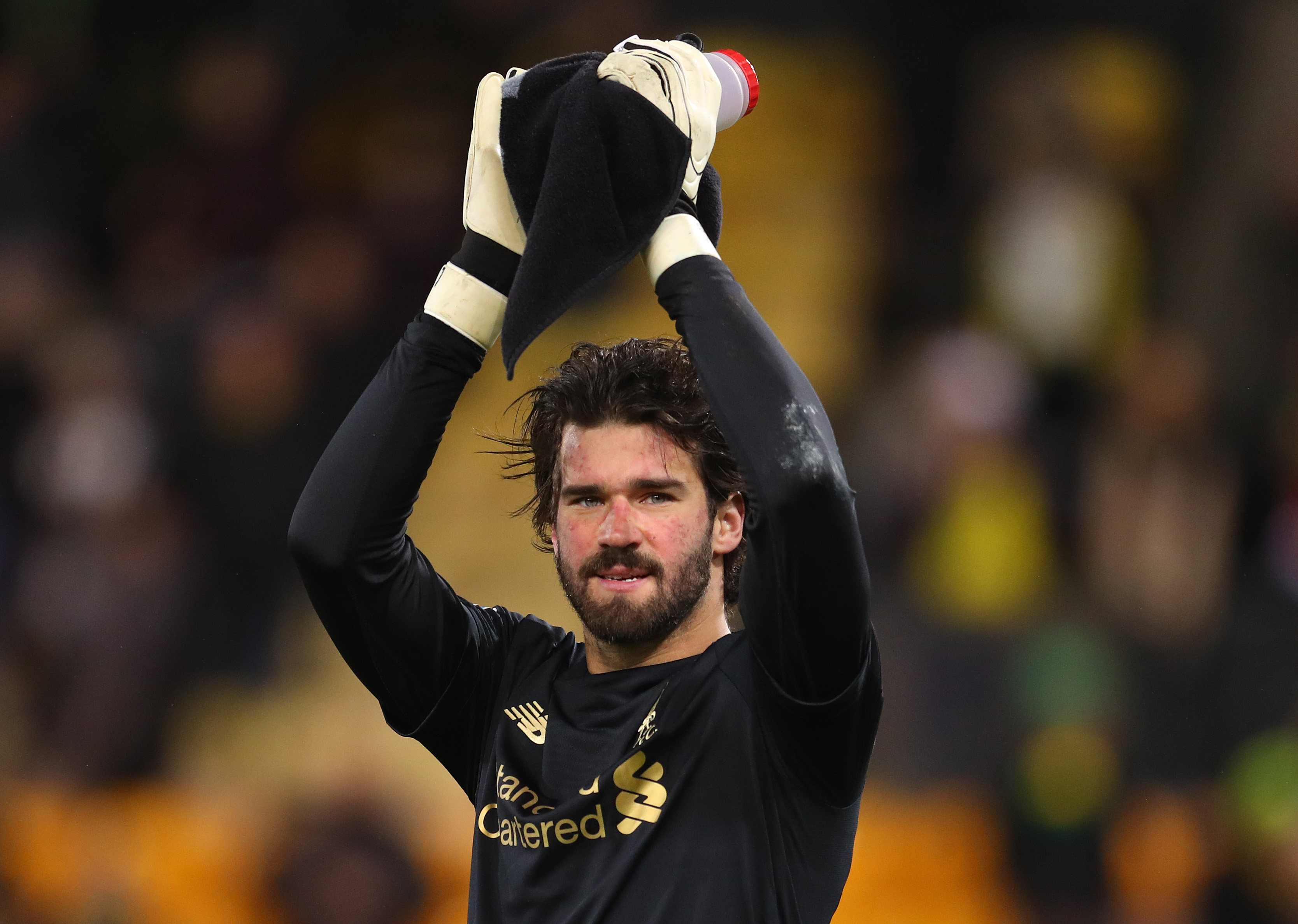 Alisson ruled out for Liverpool. (Photo by Catherine Ivill/Getty Images)