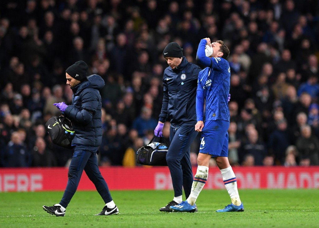 Andreas Christensen is hoping to return after breaking his nose against Manchester United earlier this week. (Photo by Shaun Botterill/Getty Images)
