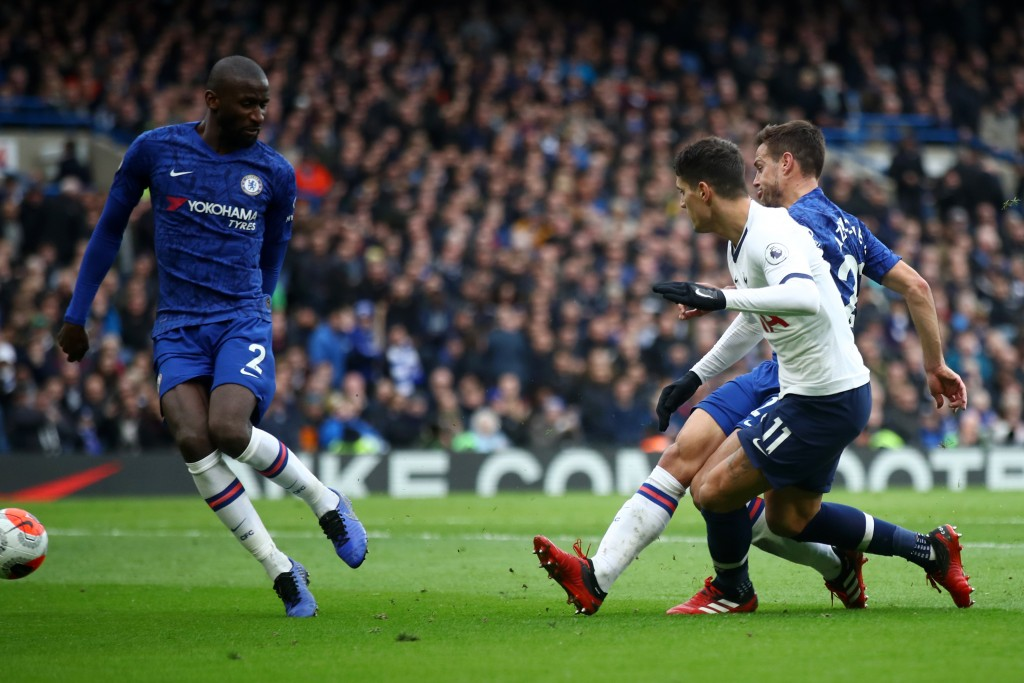 Rudiger (L) was desperately unlucky for the goal Chelsea conceded. (Photo by Julian Finney/Getty Images)