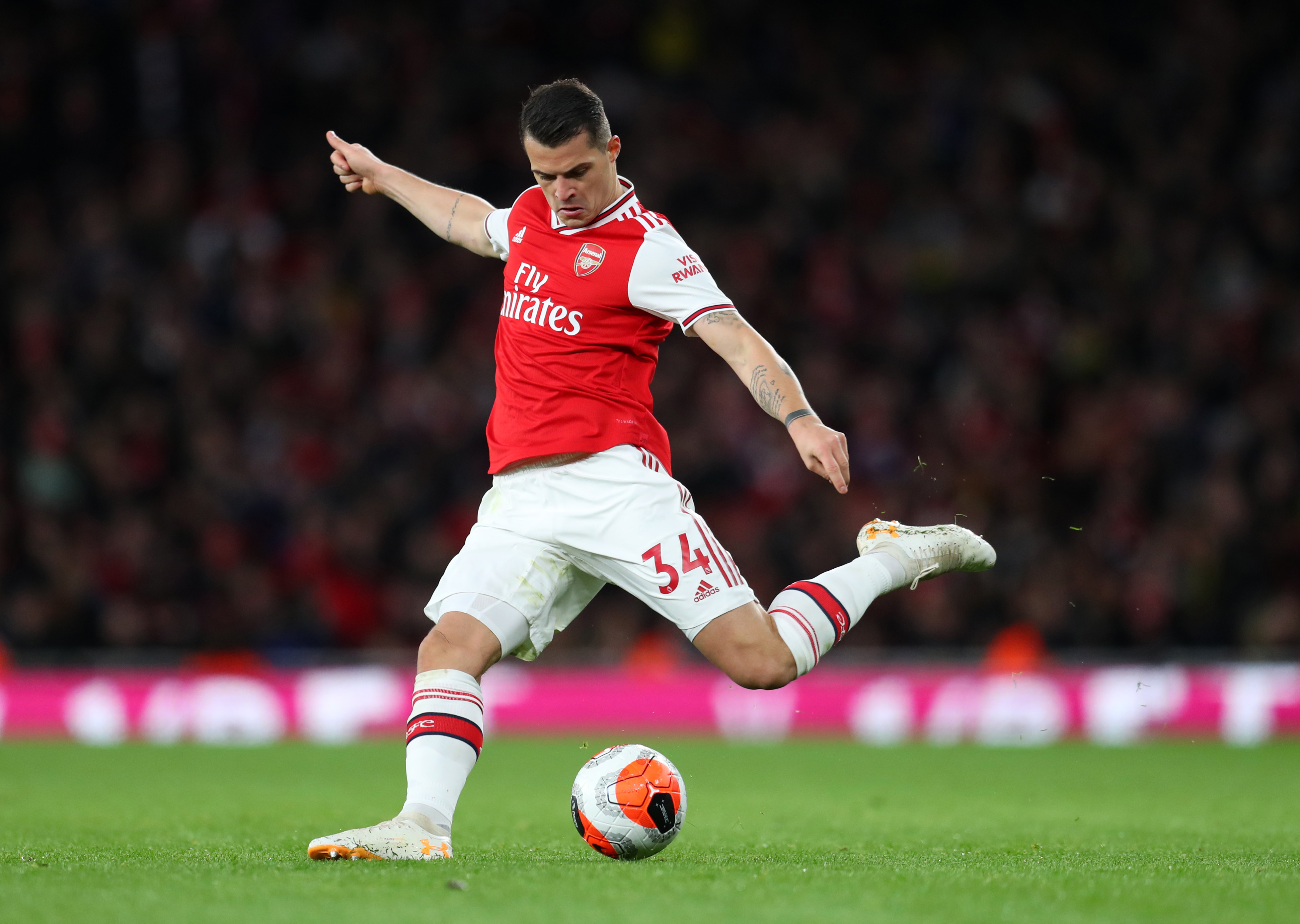 Granit Xhaka wanted by Inter Milan in Eriksen swap deal (Photo by Catherine Ivill/Getty Images)