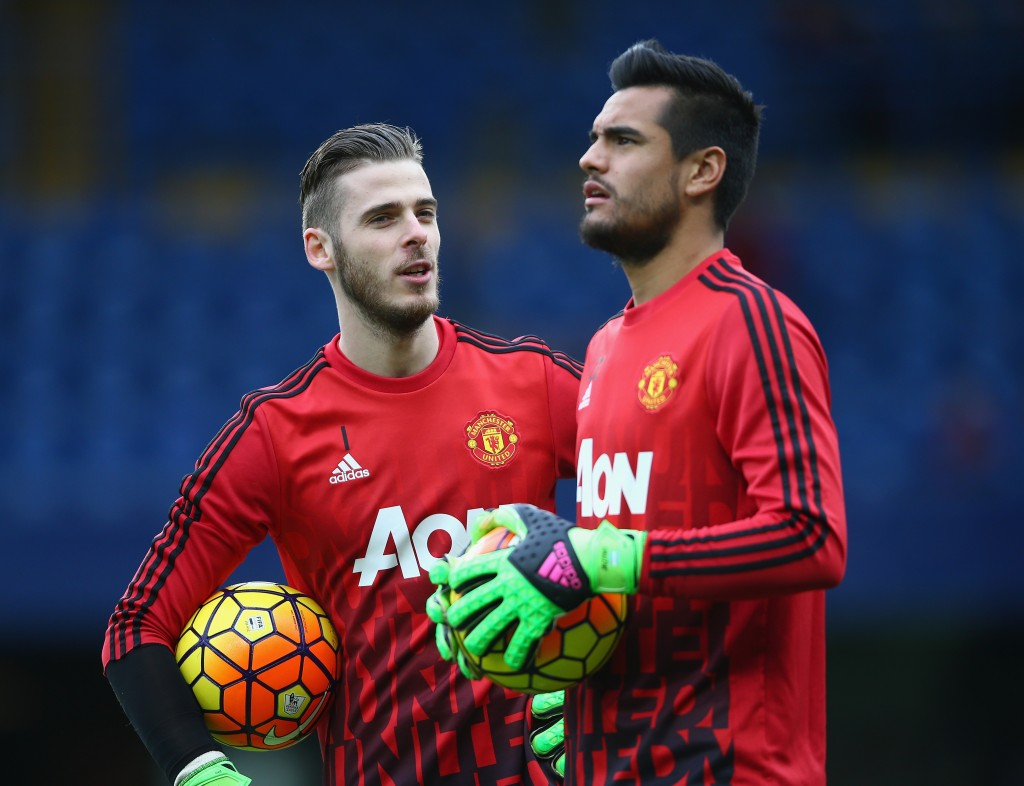 Sergio Romero will replace David de Gea in the Manchester United goal. (Photo by Paul Gilham/Getty Images)
