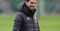 Mikel Arteta during a training session. (Photo by Stuart MacFarlane/Arsenal FC via Getty Images)